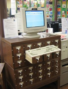 Card Catalog Computer Desk
