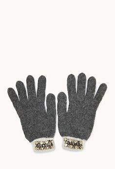 Fancy Rhinestoned Gloves   FOREVER 21 - 2000111690