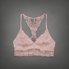 This lace bralette would be cute under tank tops.