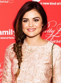 lucy hale, radiant makeup