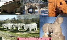 Representaciones de toros celtíberos: Solosancho; Miranda; Guisando; Porcuna