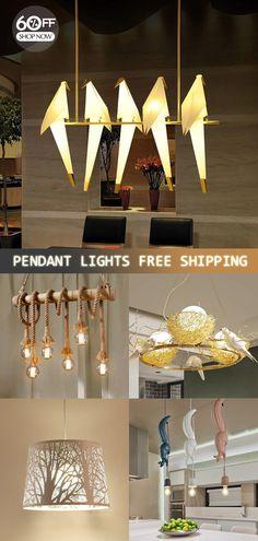 Pendant Lighting Designs and Ideas Pendant Lamp, Pendant Lighting, Deco Studio, Farmhouse Kitchen Lighting, Living Comedor, Diy Chandelier, Chandeliers, Dining Lighting, Bird Design