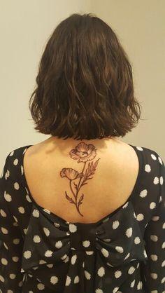 Poppy tattoo by Rachel Hauer at East River Tattoo in Brooklyn