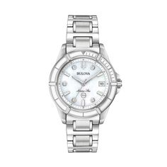 7f792eb3e93 Bulova Women s Marine Star Diamond Accent Stainless Steel Watch - 96P201