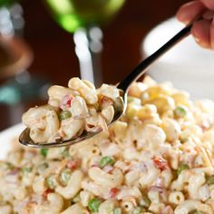 A must-have summer side dish! Try this All-American Macaroni Salad from Nilsson Venable QVC I made it this evening and it is one of the best macaroni salads I have ever had! Summer Recipes, Great Recipes, Favorite Recipes, American Macaroni Salad Recipe, Good Food, Yummy Food, Yummy Treats, Tasty, Summer Side Dishes