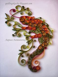 Волшебная сказка про квиллинг: Хамелеон))))