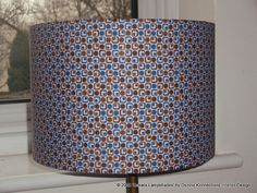 Blue & Brown Handmade Retro Patterned Italian by AnkaraLampshades