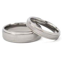 Nuevo su y suyo juego anillo de bodas por RenaissanceJewelry