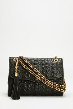 Cute bag, and reminiscent of a Chanel-really like the texture, the tassel and the gold link.  Rebecca Minkoff Affair Handbag  www.hautelook.com,