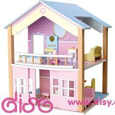 <p><strong>Casas de muñecas infantiles - casita de madera tejado azul</strong></span></p>  <p>¡ Qué sueño de casita en tonos pastel !, esta preciosa casa de muñecas de madera hará latir los corazones de quién tenga la suerte de recibir. Cada habitación está pintada en colores diferentes y con preciosos muebles.</p>  <p>Con acabado en madera de alta calidad y lleva incluido los muebles. </p>  <p> Medidas: 42 x 39 x 50 cm</p>  <p> Recomendada para niñas de más de 3 años de edad </p>