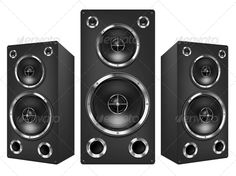 Acoustic Loudspeaker  #GraphicRiver         Acoustic System Isolated on White Background. Vector.     Created: 30June13 GraphicsFilesIncluded: JPGImage #VectorEPS Layered: Yes MinimumAdobeCSVersion: CS Tags: acoustic #audio #backgrounds #bass #black #circle #contemporary #electrical #electricity #entertainment #equipment #gray #hi-end #isolated #large #macro #middle #multimedia #music #part #power #recording #silver #sound #speaker #stereo #studio #technology #treble #volume