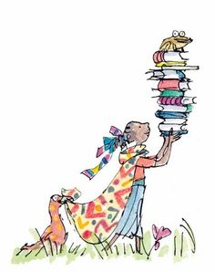 Me, when I'm going to explore the world outside :p You can't bring enough books with you! Reading Library, Reading Art, Children Book Quotes, Childrens Books, Lovers Art, Book Lovers, Inspirational Reading Quotes, Quentin Blake Illustrations, Children's Book Illustration