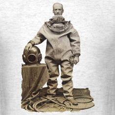 Vintage 19th Century Diver and Helmet