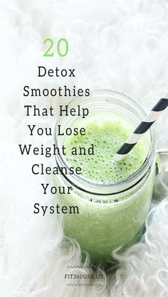 20 Detox Smoothies That Help You Lose Weight and Cleanse Your System Smoothie detox smoothie Detox Smoothie Recipes, Smoothie Cleanse, Weight Loss Smoothies, Detox Recipes, Cleansing Smoothies, Juice Cleanse, Body Detox Cleanse, Smoothie Diet Plans, Recipes