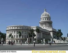 The former Capitol building in Havana Cuba
