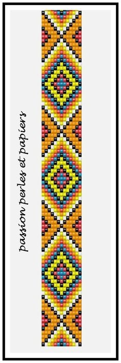 Geometric Diamond Bead Pattern Chart Graph
