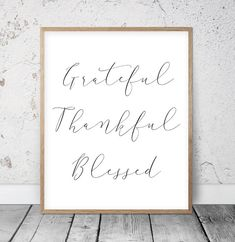 Hello Fall, Give Thanks, Gather Together, Grateful Thankful Blessed, Thanksgiving Print by LilaPrints. Autumn Wall Art, Thankful Quote, Thanksgiving Decor. Hello Fall, Autumn Printable Wall Art. Perfect artwork for the modernist home or office. Modern, chic, sophisticated. #scriptureprints #kitchenwalldecorideas #kitchenwalldecor #homedecorating