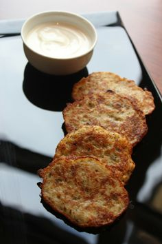 "In the Czech Republic potato pancakes are known as bramborák and are flavoured with marjoram. While not on the menu at CottoCrudo at Four Seasons Hotel Prague Executive Chef Richard Fuchs will happily make a batch of crisp golden potato pancakes if a guest makes a request. ""Serve them with sour cream and apple compote,"" he suggests. Want to try making them at home? See the recipe here.http://taste.fourseasons.com/2013/11/best-hanukkah-recipes/#sthash.2FdUtTRX.dpuf"