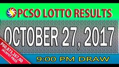 PCSO Lotto Results October 27, 2017 | 6/58, 6/45, 4D, SWERTRES & EZ2 LOTTO