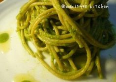 Easy Macrobiotic Komatsuna Spaghetti Genovese Recipe -  How are you today? How about making Easy Macrobiotic Komatsuna Spaghetti Genovese?