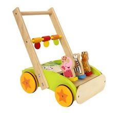 Ik-leer-lopen-wagen - - Wood-Toys.nl
