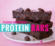 Homemade Fudge Brownie Protein Bar recipe