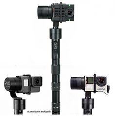 EVO GP-PRO 3 Axis GoPro Gimbal is our best selling stabilizer for Action cameras Works with GoPro thru Gp Pro, Gopro Camera, Camera Tips, Video Lighting, Best Camera, Evo, Stability, Digital Camera