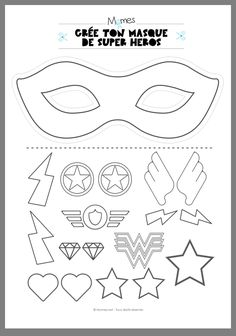 Mardi Gras 2019 Ideas PinWire: Original Mother's Day gift idea – Become a superhero or a … 29 mins ago – Theme Carnaval Masque Halloween Masque Clown Mask Template Christmas … Comic Hero Masks comic book heroes comic masks Superhero Party . Superhero Classroom Theme, Superhero Birthday Party, Superhero Photo Booth, Superhero Mask Template, Masque Halloween, Super Heroine, Dc Super Hero Girls, Super Hero Costumes, Super Hero Masks