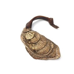 Oyster Bottle Opener Hand Carved Solid Brass by AndrewHaviland