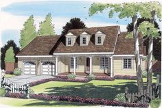 Cape Cod   Country   Ranch   House Plan 24719