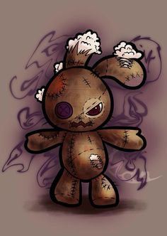 Voodoo doll Stitched by yangtianli on DeviantArt – Vudu – Rent, Buy or Watch Movies with No Fee! Gothic Drawings, Art Drawings Sketches, Cute Drawings, Voodoo Doll Tattoo, Voodoo Dolls, Doll Drawing, Bunny Drawing, Emo Art, Goth Art