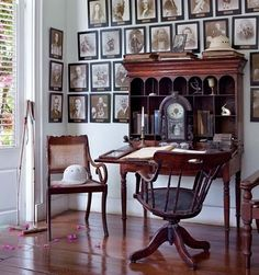 Plantation office with beautiful mahogany furnisher