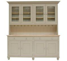 Buy Neptune Suffolk 6ft Glazed Rack Dresser, Honed Slate online at JohnLewis.com - John Lewis