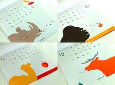 Toyota Calendar designed by Katsumi Komagata