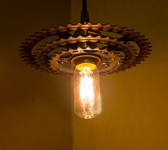 Bike sprocket gear pendant or swag light fixture  by MutinyDecor