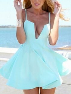 Skater Dress in Light Blue