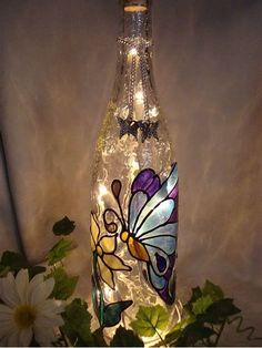 52 Beautiful Wine Bottle Crafts With Lights You Need For Your Home Flasche basteln DIY Flasche Weinflasche
