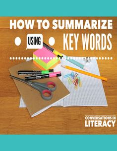 Using Key Words to Write a Summary  for Guided Reading comprehension activities- #comprehension #comprehensionactivities #comprehensionstrategies #guidedreading #conversationsinliteracy #kindergarten #first grade #secondgrade #thirdgrade