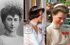 Same pearl chocker for Queen Maud, Queen Sonja and Princess Martha Louise of Norway.