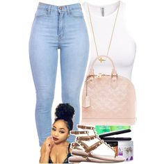 Summer Set. by beautifulme078 on Polyvore featuring polyvore, fashion, style, H&M, Valentino, Louis Vuitton and Jennifer Zeuner