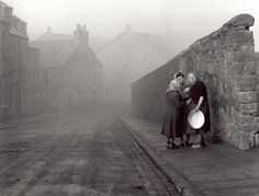 """""""A foggy day in Dundee, 1959 Photograph: Michael Peto. This photograph won the bronze medal at Interpress-Foto in Berlin in The Peto collection is held by Classic Photography, Photography Series, History Of Photography, Vintage Photography, Black And White Photography, Street Photography, Landscape Photography, Urban Photography, Dundee"""