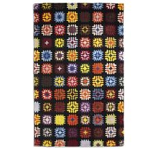 Inspired by the traditional patterns of crocheted blankets, this multicoloured 'Lily' rug makes a classic retro statement and is handmade in tufted wool for a soft finish. Black Image, Black Rug, Modern Rugs, Rug Making, Crocheted Blankets, Lily, Traditional, Wool, Retro