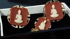 Hey, I found this really awesome Etsy listing at https://www.etsy.com/listing/541706175/swank-buddha-vintage-cufflinks-arts-of