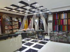 Proper lighting and elegant interior make customers visit your clothes outlet