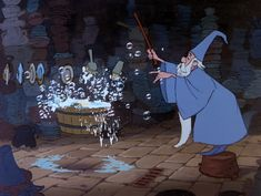 *MERLIN ~ The Sword in the Stone, 1963 Magical Merlin.