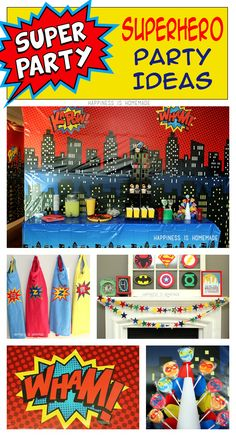 Lots of Awesome and Easy Superhero Birthday Party Ideas from @hihomemadeblog