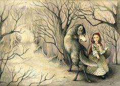 french red riding hood by rose-colligan.deviantart.com