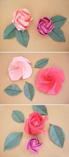 DIY: origami roses I've been trying to find a good tutorial for forever!!!