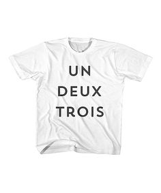 Look at this White & Black 'Un Deux Trois' Tee - Toddler & Girls on #zulily today!