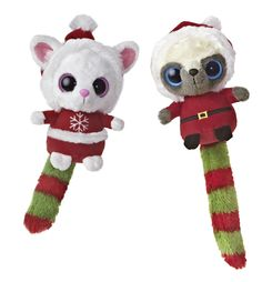 """Celebrate Christmas with our 5"""" Santa Wanna Be Assortment set of 2 different plush toy styles!"""